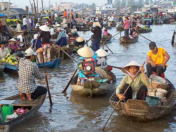 mercado flotante de Vietnam