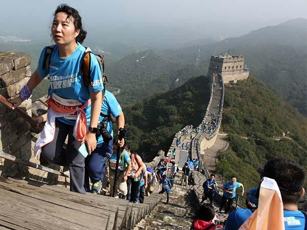 escalar la Gran Muralla