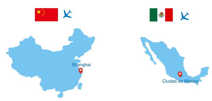 vuelos desde México a China