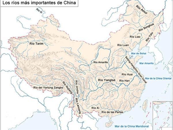 Los ríos más importantes de China