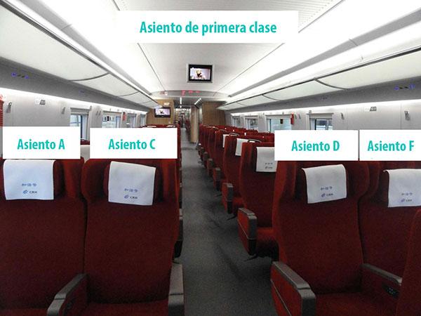 asiento de primera clase
