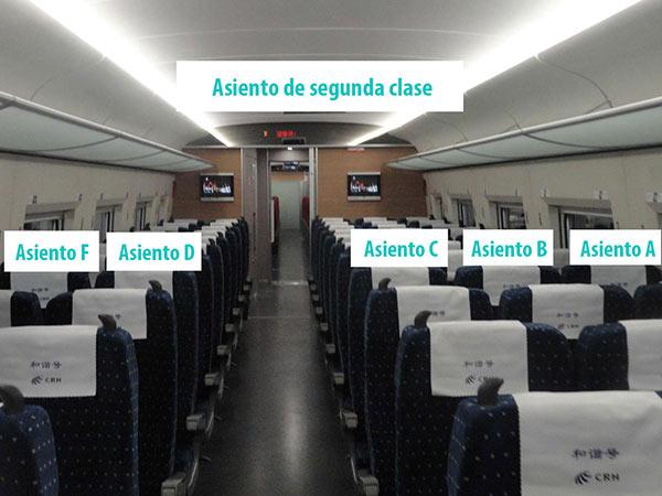 asiento de segunda clase
