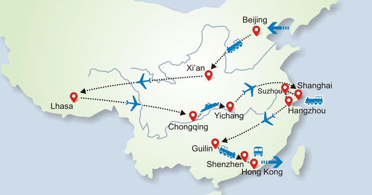 Viaje de China, Panorama de China, Los mejores lugares de China
