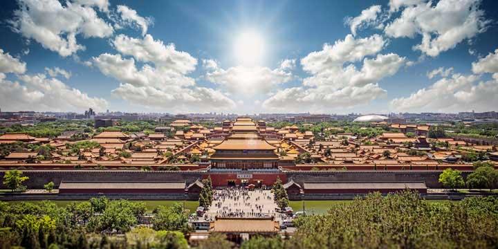 Vista a la Ciudad de Beijing