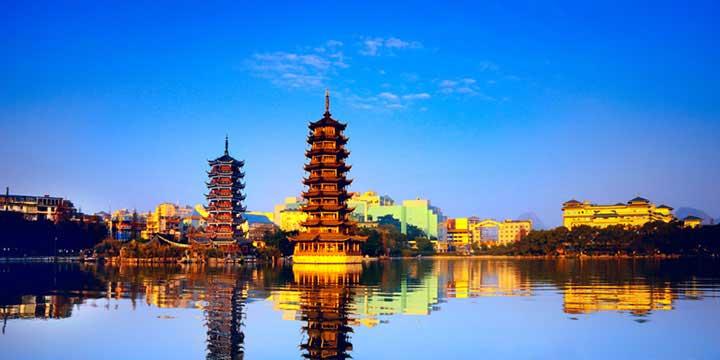 Vista a la ciudad de Guilin