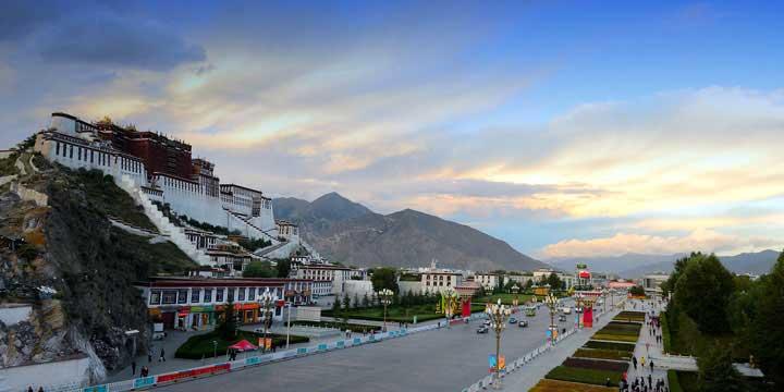 Vista a la ciudad de Lhasa