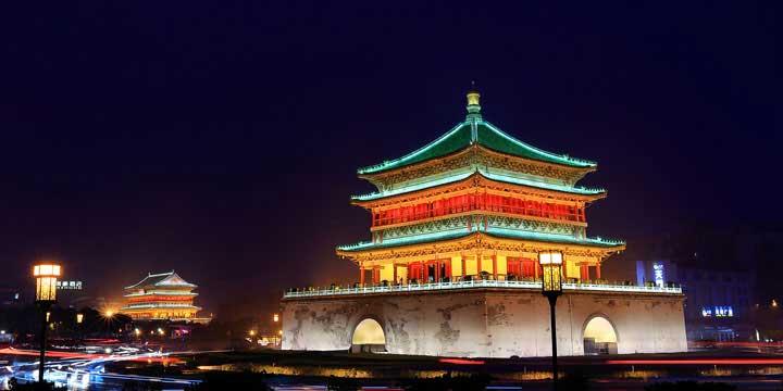 vista de la ciudad de Xian