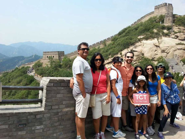 clientes en la gran muralla de China