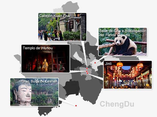 Lugares Emblemáticos de Chengdu
