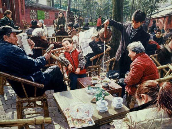 cultura de té en Sichuan