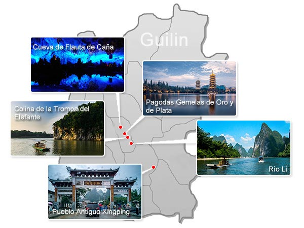 Lugares Emblemáticos de Guilin