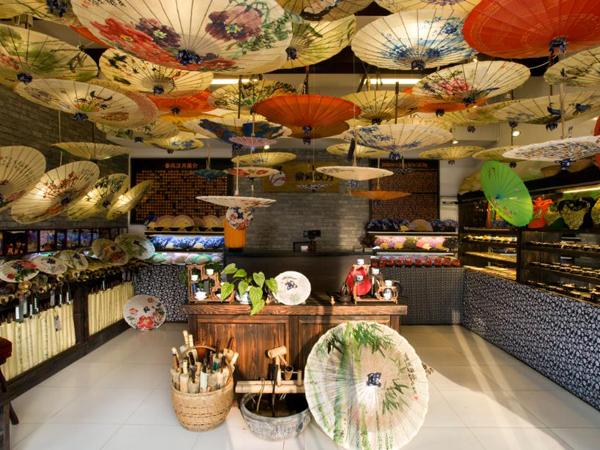 Especialidades locales de Guilin - paraguas de papel