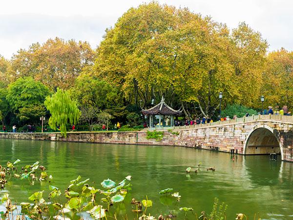 El Lago del Oeste en Hangzhou