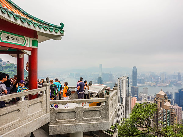 Victoria Peak in Hong Kong