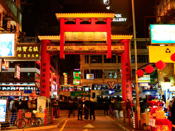 calle del templo de Hong Kong