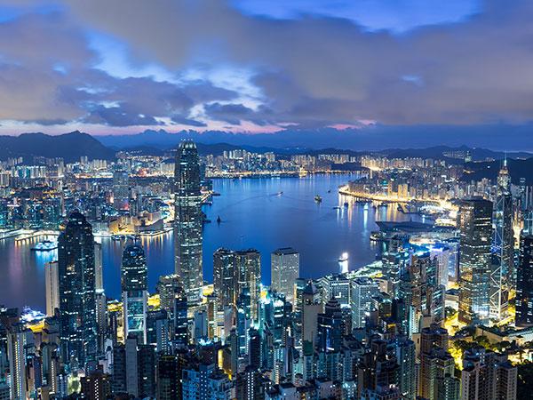 La vista a Hong Kong