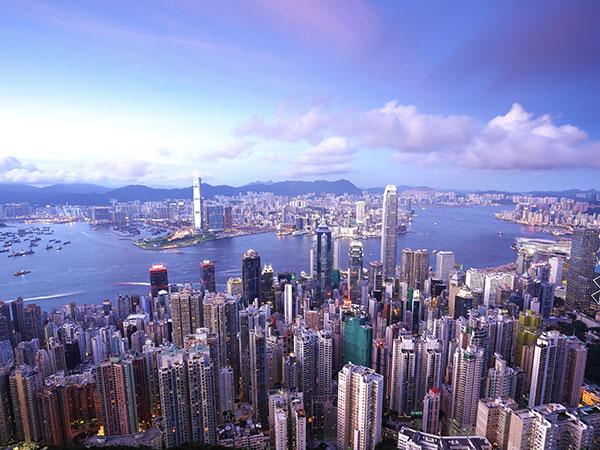 Vista a La Ciudad de Hong Kong