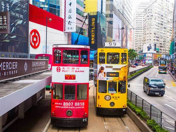 tranvia de Hong Kong