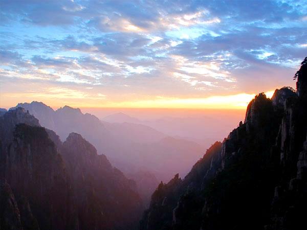 vista de huangshan