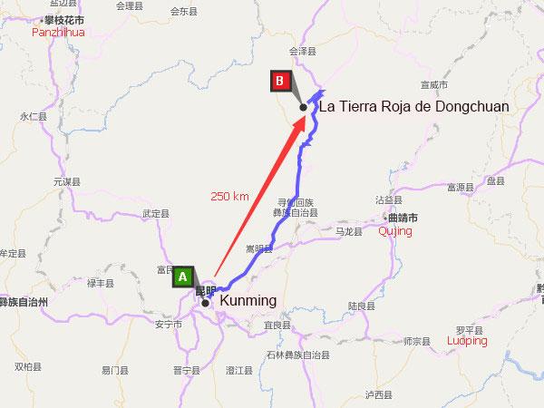 kunming a la tierra roja de dongchuan