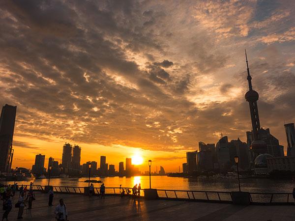 El Bund en Shanghai