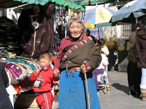 calle barkhor de lhasa