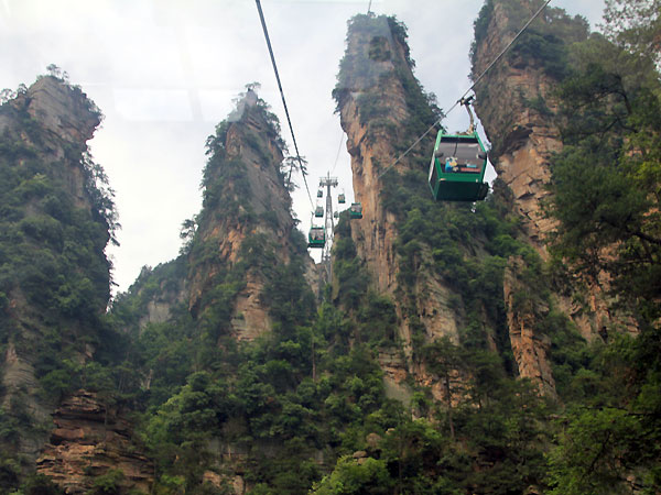 La Encañada del Azote Dorado en Zhangjiajie