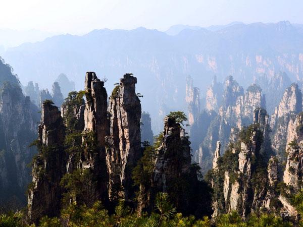 El Parque de la Montaña de Tianzi