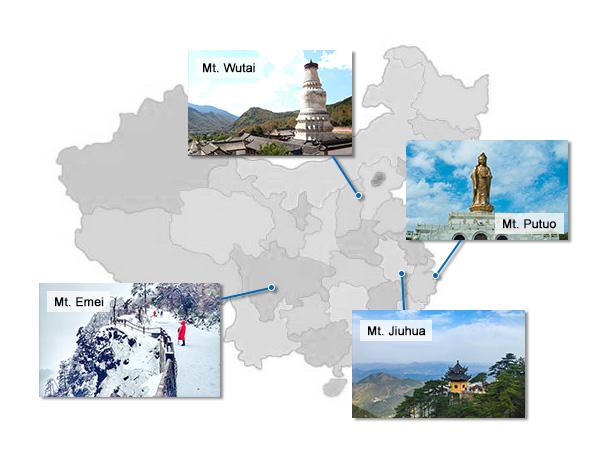 4 montanas sagradas bidistas en china